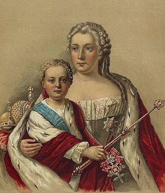 Iwan VI Romanow z matką. Jeszcze zanim wszystko poszło się...