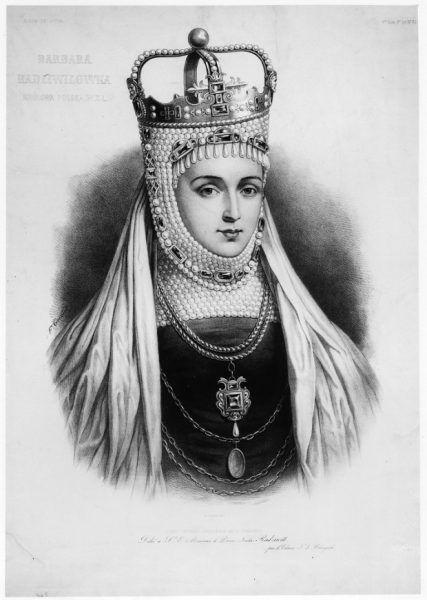 Portret koronacyjny Barbary Radziwiłłówny. Na twarzy królowej nie widać śladów choroby. To już jednak ostatnia szczęśliwa chwila w jej życiu.