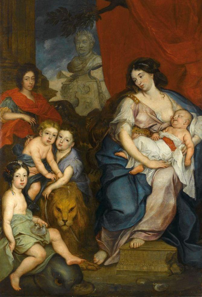 Królowa Marysieńka z dziećmi. Matka-Polka?