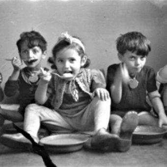 Dzieci z łódzkiego getta.