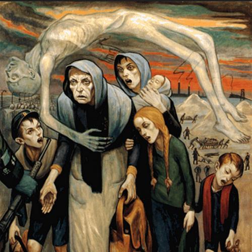 W czasie Holocaustu Niemcy oraz ich kolaboranci zamordowali ok. sześciu milionów europejskich Żydów. Wszystko w imię chorej ideologii. Na ilustracji jeden obrazów Davida Olère'a, który od lutego 1943 r. był członkiem Sonderkommando w Auschwitz-Birkenau.