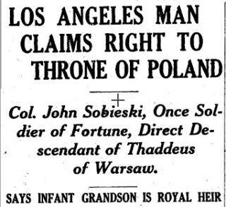 Mężczyzna z Los Angeles ma prawa do polskiego tronu....