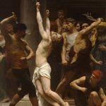 """Chłosta była najczęściej wymierzaną karą. (na zdj. fragment obrazu Williama Adolpha Bouguereau pt. """"Biczowanie Jezusa"""")."""