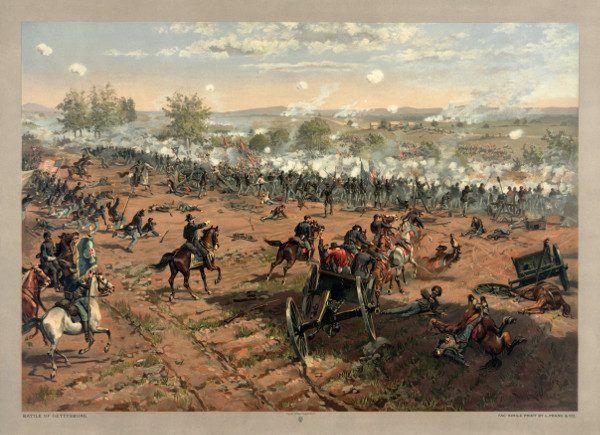 Najkrwawsza bitwa wojny secesyjnej również dla Sobieskiego mogła skończyć się tragicznie... (litografia Thure de Thulstrup, renowacja Adam Cuerden)