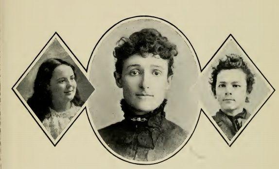 Rodzina Johna Sobieskiego, od lewej: córka Mary, żona Lydia Gertrude z domu Lemen, syn John