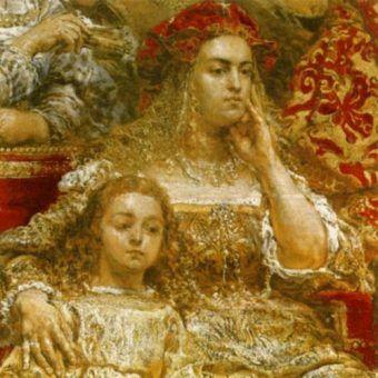Bona Sforza była prawdziwym człowiekiem renesansu. Na ilustracji Bona na obrazie Jana Matejki.