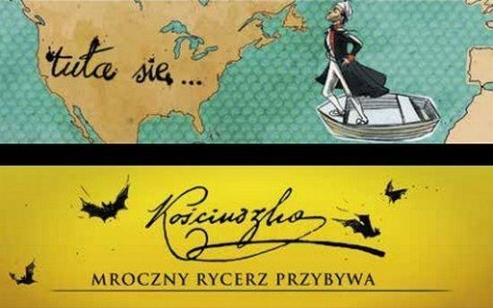 """Kościuszko jako superbohater płynący na ratunek Ameryce? W sumie coś w tym jest. Ilustracja z książki Jana Wróbla, """"Historia Polski 2.0. Polak, Rusek i Niemiec… """" (Znak Horyzont, 2015)."""
