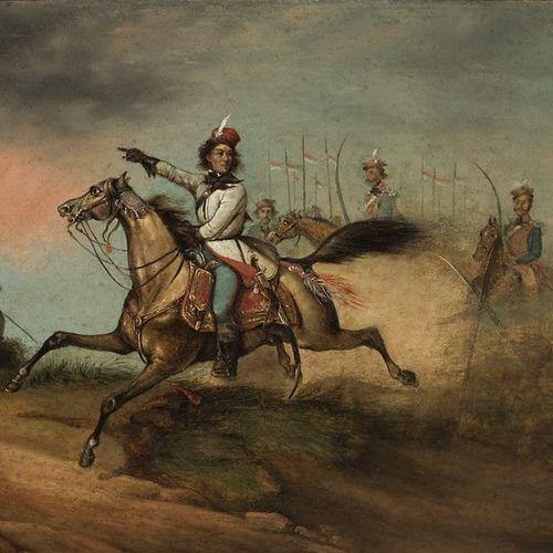 Tadeusz Kościuszko prowadzi swoich żołnierzy do ataku. Niewiele zabrakło, a nigdy by do tego nie doszło. A sam Kościuszko spocząłby na dnie Atlantyku. Na ilustracji XIX-wieczny obraz nieznanego autora.