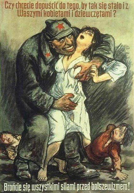 Polskojęzyczny plakat propagandowy Willibalda Kraina, którego celem było zachęcenie Polaków do walki z Armią Czerwoną (źródło: domena publiczna).
