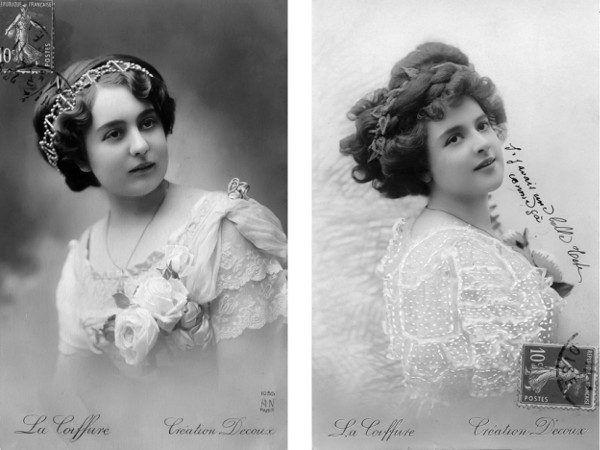 Kobiece fryzury przed epoką Antoine'a: Pieczołowicie układane, ale brudne włosy (fot. archiwum autorki).