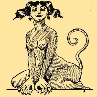 Kobieta demon (rys. Amorek, 1924).