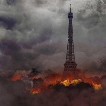 Zniszczony Paryż w wyobrażeniu berlińskiego artysty Michala Zaksa.