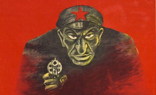 Rosyjski plakat zrzucający na Żydów odpowiedzialność za stalinowskie zbrodnie.