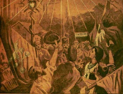 """Obchody 3 maja na okładce górnośląskiego pisma """"Kocynder"""" z 1921 roku."""