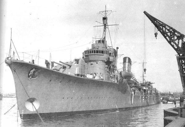Załoga PT-109 zauważyła niszczyciel Amagiri dopiero 10 sekund przed zderzeniem (fot. Shizuo Fukui, domena publiczna).