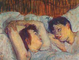 """Zdaniem wielu przedwojennych postępowców nie mogło być mowy o wspólnej sypialni. Na ilustracji obraz Henriego de Toulouse-Lautreca pt. """"W łóżku"""" (źródło: domena publiczna)."""