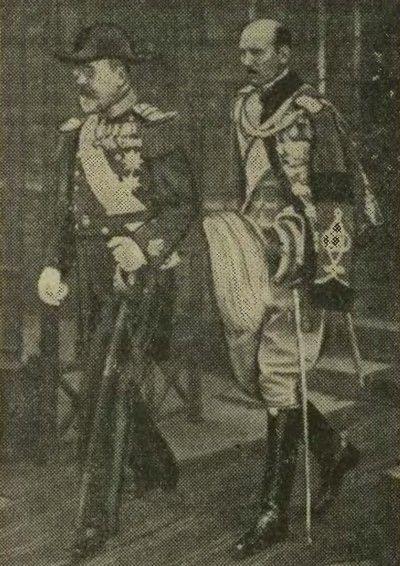 W uroczystości ku czci Marszałka w Kopenhadze wziął udział stryj duńskiego króla ks. Waldemar. Na zdjęciu z synem (źródło: domena publiczna).