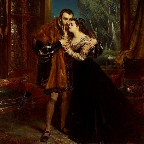 Zakochani w sobie Zygmunt August i Barbara Radziwiłłówna na obrazie Jana Matejki (źródło: domena publiczna).
