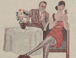Ciekawe czemu ta dama ma taką smutną minę? Czyżby i jej partner nie dawał rady? (źródło: domena publiczna).