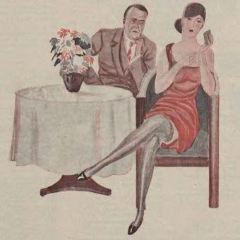 Ciekawe czemu ta dama ma taką smutną minę? Czyżby mąż nie dawał rady? (źródło: domena publiczna).