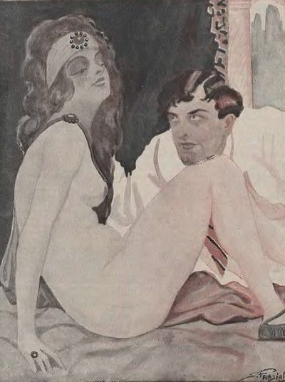 """Holenderski specjalista od seksu Theodoor Hendrik van de Velde szczególnie polecał """"pocałunki drażniące"""" składane przez mężczyzn kobietom (źródło: domena publiczna)."""