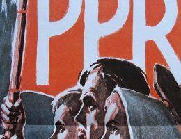 PPR walczy i zwycięża. Plakat propagandowy z lat 40. (fot. Pesell; lic. CC ASA 4.0).