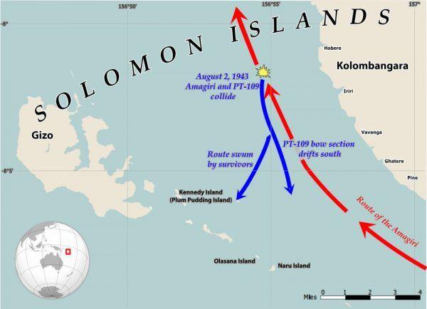 Na tych wodach John F. Kennedy otarł się o śmierć (rys. Philg88 / Wikimedia Foundation, CC BY 4.0).