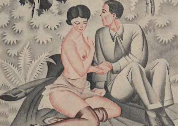 Tylko jeden rodzaj stosunku był pełnoprawny. A zastępowanie penisa językiem uważano za patologię... Ilustracja poglądowa (źródło: domena publiczna).