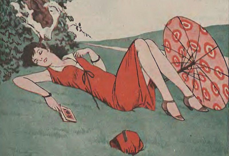 """W okresie międzywojennym nowoczesne kobiety miały już zupełnie inne zmartwienia niż """"kult błony dziewiczej"""" (źródło: domena publiczna)."""