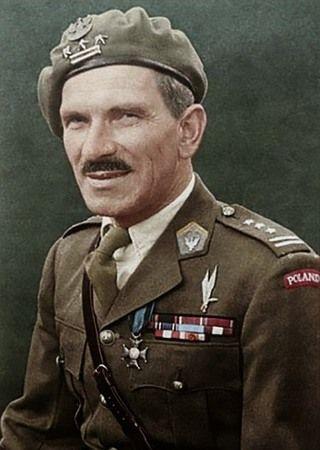 Dowódca 1. Samodzielnej Brygady Spadochronowej Stanisław Sosabowski. Na zdjęciu jeszcze jako pułkownik (źródło: domena publiczna; koloryzacja: teraz w kolorze).