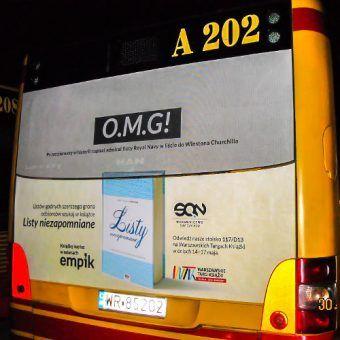 """""""Listy niezapomniane"""", reklama autobusowa"""