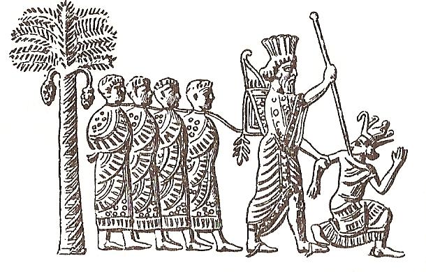 Perska pieczęć z wizerunkiem Kambyzesa II biorącego do niewoli faraona Psametycha III. Czyżby sprawcami przegranej Egipcjan w wojnie z Persją były koty, a właściwie boska cześć jaką je otaczano nad Nilem (źródło: domena publiczna).