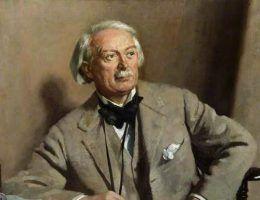 Brytyjski premier David Lloyd George nie miał żadnych skrupułów, aby przehandlować Polskę bolszewikom. Na ilustracji portret autorstwa Williama Orpena (źródło: domena publiczna).