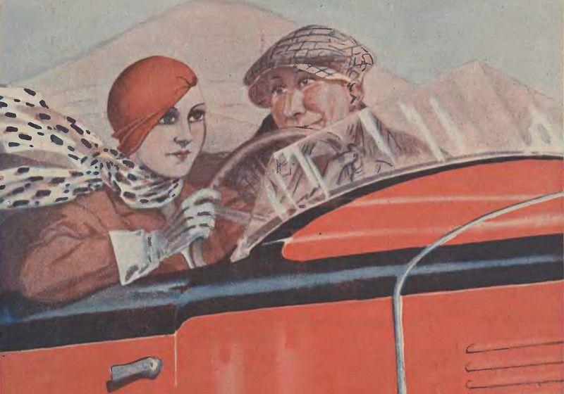 Wspólna wyprawa samochodowa do Włoch z mężem i kochankiem? Dla Jadwigi Mrozowskiej nie był to żaden problem (źródło: domena publiczna).
