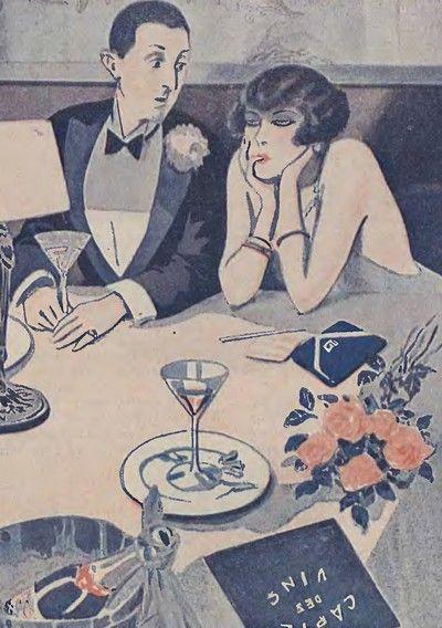 """W II RP bardzo popularne były restauracje z dyskretnymi """"gabinetami"""" (źródło: domena publiczna)."""