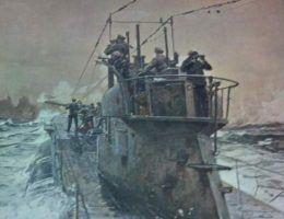 U-53 w trakcie patrolu bojowego (źródło: domena publiczna).