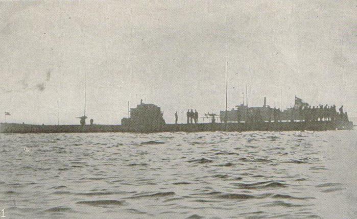Zdjęcie U-53 wykonane w trakcie jego pobytu w Newport (źródło: domena publiczna).