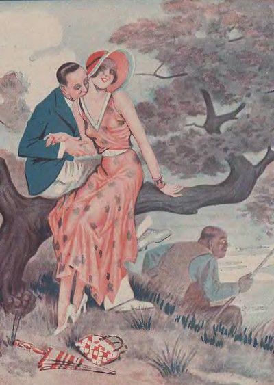 """Urlop z mężem i kochankiem, czyżby rozwiązanie """"idealne""""? (źródło: domena publiczna)."""