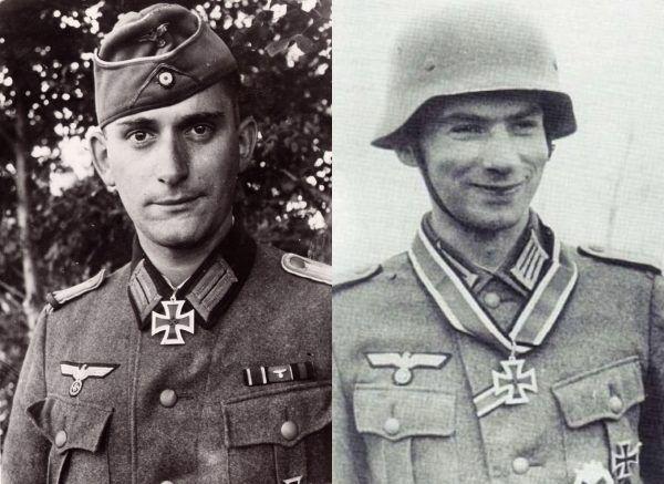 Ernst Prochaske (z lewej) i Adrian von Fölkersam. Fot. domena publiczna.