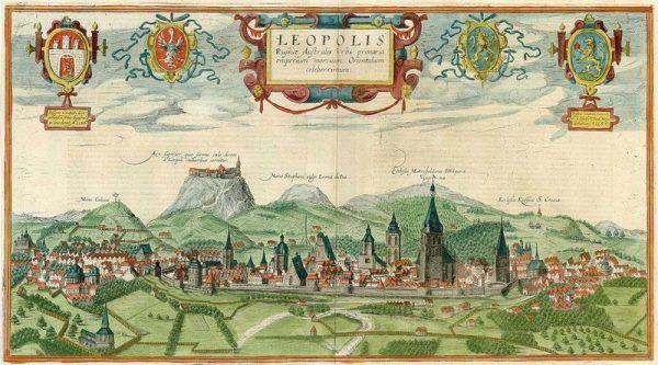 Tak wyglądał w tamtym czasie Lwów. To m.in. tam harcował Jan Szczęsny Herbut (źródło: domena publiczna).