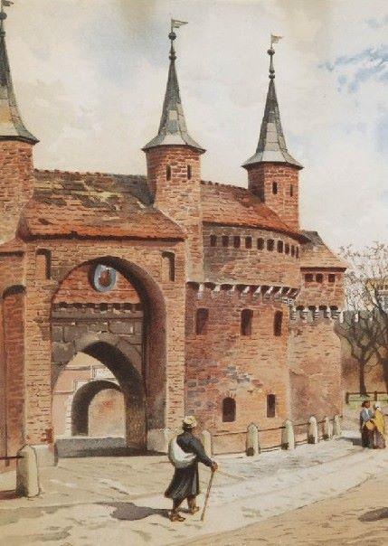 Krakowski barbakan, stanowiący dziś turystyczną atrakcję, powstał ze strachu przed turecką wyprawą przełomu lat 1498/1499 (źródło: domena publiczna).
