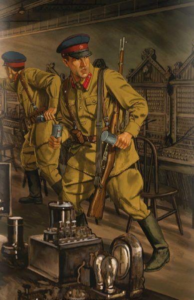 """Niemieccy dywersanci w Majkopie. Fragment ilustracji z książki """"Behind Soviet Lines"""" Davida R. Higginsa (seria Osprey)."""