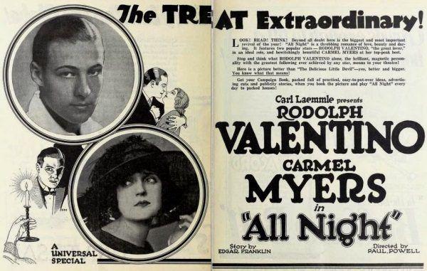 Valentino uwodzi spojrzeniem z materiałów promujących jeden z jego filmów.
