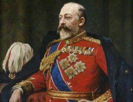 Żegnany monarcha Edward VII jeszcze za życia