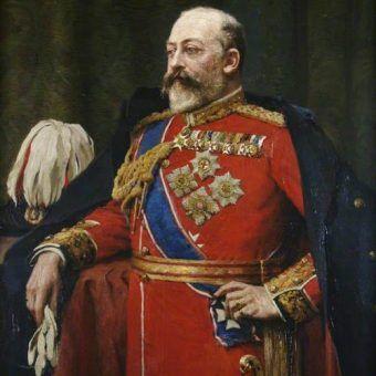 Żegnany monarcha Edward VII jeszcze za życia (źródło: domena publiczna).