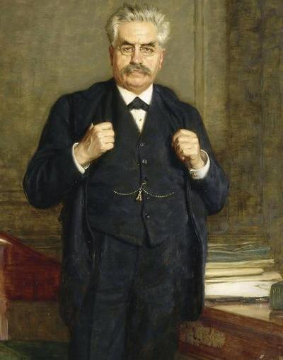 Alexandre Millerand do końca nie dał się przekonać brytyjskiemu premierowi (źródło: domena publiczna).