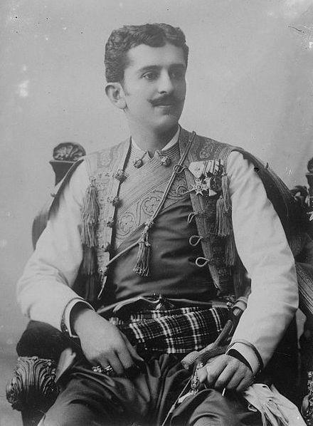 Czarnogórski amant - książę Daniło (źródło: domena publiczna).