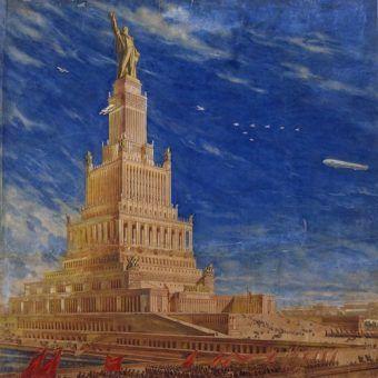 Właśnie tak miał się prezentować monumentalny Pałac Rad (źródło: domena publiczna).