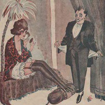 Zadbana prostytutka była prawdziwą rzadkością w przedwojennej Polsce. Większość z dam lekkich obyczajów była brzydka, brudna i śmierdząca (źródło: domena publiczna).
