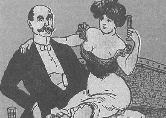Nawet kilkunastoletnie prostytutki były już uzależnione od alkoholu (źródło: domena publiczna).